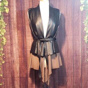 Double Zero Faux Leather Vest